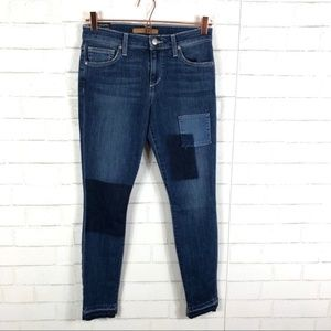 NWT Joe's Patchwork Release Hem Skinny Ankle Jeans
